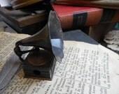 Antique Vintage Diecast miniature metal Phonograph Sheet Music Player & Pencil Sharpener