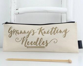 Granny's Knitting Needles | Grandma's Knitting Needle Case | Gifts For Knitters | Knitting Needle Bag