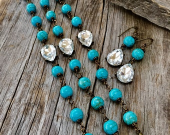 Turquoise Bridesmaid bracelets BLING  joellie boutique designs jewelry sets bridal western bride statement accessories sets bridesmaid gift