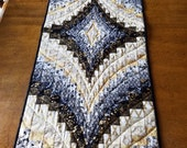Elegant Holiday Bargello Quilted Table Runner