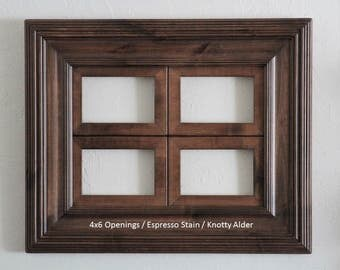 4 Opening Window Collage Frame / Whistler Style / Several Sizes and Colors