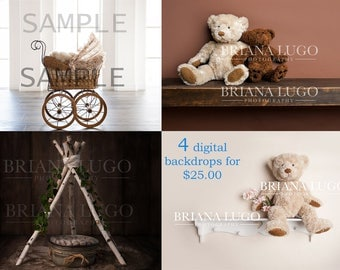 Sale 4 Digital backdrops