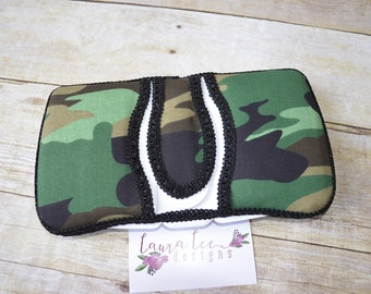 Traditional Camof Flip Top Travel Baby Wipe Case, Pop Top Wipecase, Baby Shower Gift, Small Wipe Holder, Camoflauge Diaper Bag Wipe Clutch