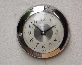 Sessions Round Chrome Wall Clock