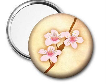 Cherry Blossoms Pocket Mirror - Choose from 3 Designs