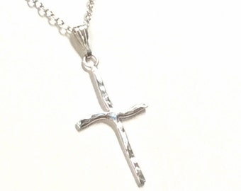 Fine silver Cross Necklace 99.9 silver