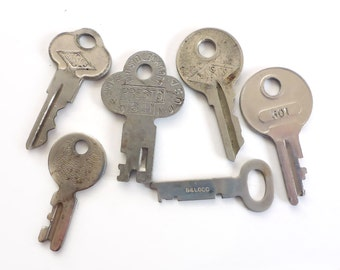 Six Vintage Keys, Small in Size