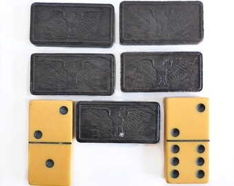 Assorted Large Dominoes, Wood and Plastic