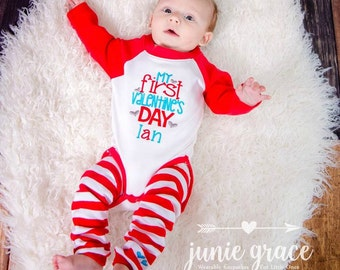 Baby Boy Valentines Day Outfit Baby Boy First Valentines Day Outfit Newborn  First Valentineu0027s Day Outfit