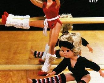 SiNDY BaRBiE Doll Knitting Pattern Teenage FaSHiON DOLL Leotard Legwarmers  Exercise Workout Keep Fit Dance Clothes Orignal Knitting Pattern