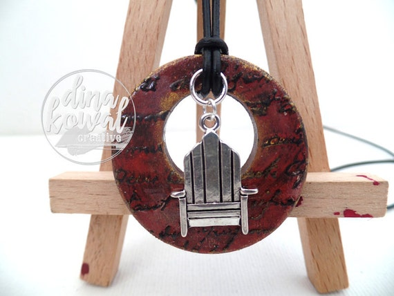 Adirondack Chair wood pendant