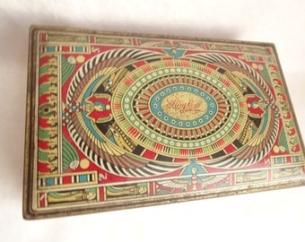 Egyptian Revival Candy Tin Huyler's CA 1923