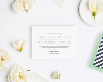 Wedding Invitation Sample - The Davis Suite