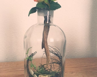 Autumn Glass Bottle