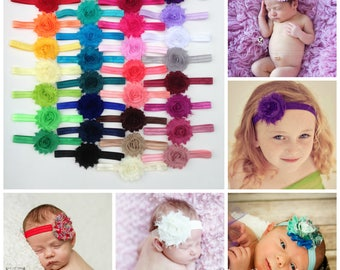 You Pick 3-Shabby Chic FOE Headband Set, Newborn Headband, Infant Headband, Children's Headband, Baby Headband, Adult Headband, Headband Set