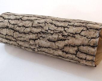 Log Pillow: Oak Bark Jute