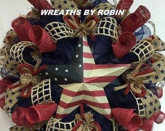 10% OFF RWB Rustic Wreaths, Patriotic Wreaths (1975)