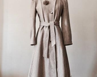 70s Wool Coat (S) Romantic