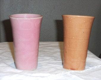 Vintage Stoneware Drinking Glasses