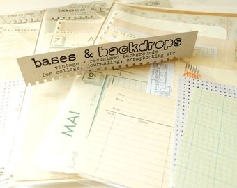 Bases and backdrops - vintage and reclaimed papers for collage, art, hand lettering projects etc