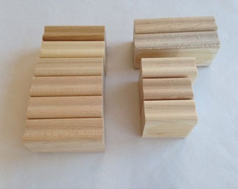Wood Mounting Blocks for Rubber Stamps – Set of 11 – Assortment of Sizes