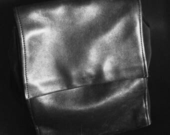 Vintage 90's Black Leather City Backpack