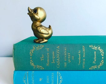 Casanova Teal & Aqua  Books Instant Library Collection Decorative Books Photography Props Gold Accents