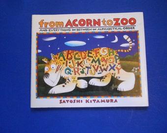 From Acorn to Zoo, a Vintage Children's ABC Book, Satoshi Kitamura, Illustrated Alphabet Book