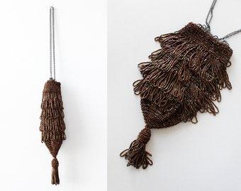 Beaded Flapper Purse • Vintage Beaded Purse • Beaded Evening Bag • Vintage Handbag • Tassel Purse • Pouch Bag • Evening Purse | B793