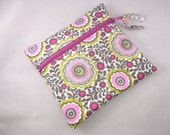 Wet Bag Cloth Pad Wet Bag Gray Pink Floral