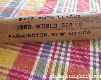 "1963 World Series Babe Ruth League Souvenir Small Baseball Bat  Louisville Slugger 16"" Farmington New Mexico"