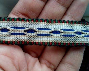 Uzbek handwoven cotton trim Jiyak. Tribal ethnic, boho, hippy trim. TR052