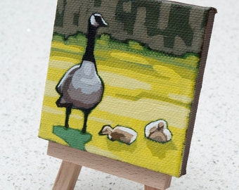 Geese - Tiny Painting