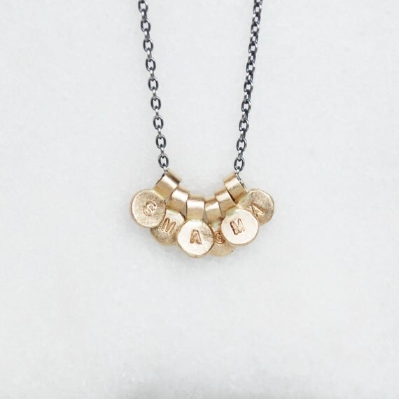 Gold Initial Necklace - Choose ONE or MORE initials - 14k Gold and Sterling Silver Initial Necklace - Eco-Friendly Recycled