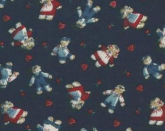 Vintage Navy Rag Doll Printed Fabric (2 Yards)
