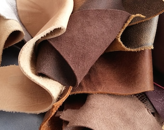 Leather pieces, Craft Supplies, Scrap Leather Pieces, Mixed Colours, Scrap Booking, Mix Colors of Leather, leather off cuts, Leather Pieces