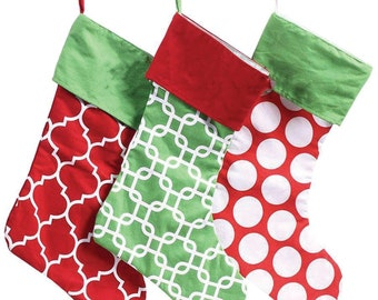 christmas stockings christmas stocking family christmas stockings geometric cotton christmas stocking