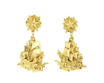 Small Florentine Ship earrings