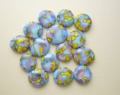 Fused Glass Beads - Fused Glass - Small Beads - Jewelry Findings - Lampwork Beads - Cabochon - Cab - Mosaic Tiles 6578
