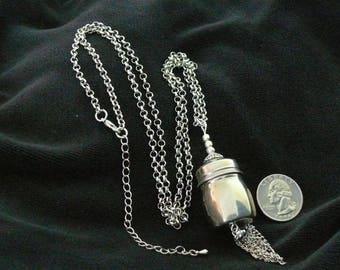 OOAK Sterling Silver Salt Shaker Necklace, Handmade, from Bluebird Creations, Item #2101