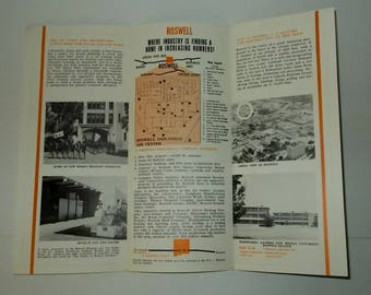 Vintage 1965 City of Roswell New Mexico Street Map-Photos of Area-Sorry, NO Photos of Aliens!!