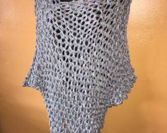 Silver and metallic poncho