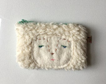 Forest Nymph Hand Embroidered Coin Purse