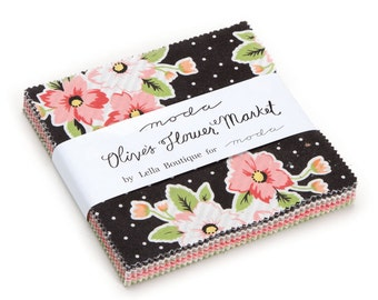 Olive's Flower Market - Charm Pack by Lella Boutique for Moda Fabrics