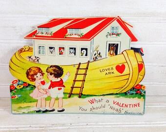 Vintage Noahs Ark Valentine