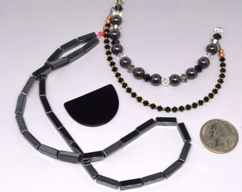 Hematite, Swarovski Crystal Beads, MORE