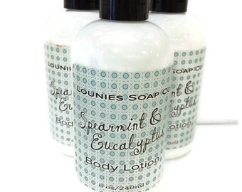 Spearmint & Eucalyptus Lotion 8oz