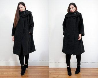 Vintage Wool Persian Persianer Real Fur Swing Coat Princess RARE