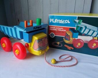 Vintage Playskool Take-Apart Dump truck