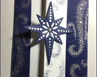 Peaceful and Bright - Christmas Winter Holiday Handmade card